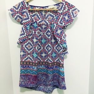 Anthropologie Patterned Shirt Size XS